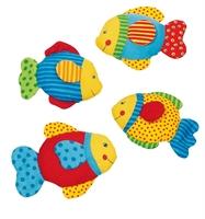 Kép Textil hal  4 féle 12-14 cm